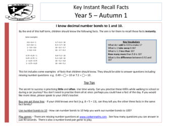 Key Instant Recall Facts