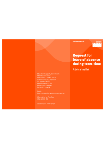 Leave of Absence Request Leaflet for Parents