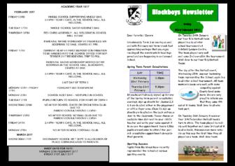 Newsletter 3rd February