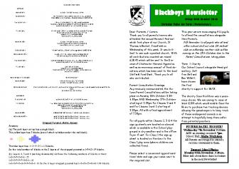 Newsletter 5th October