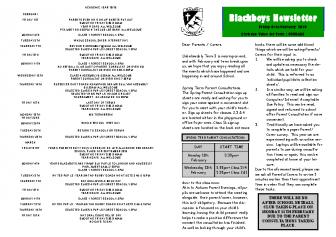 Newsletter 1st February