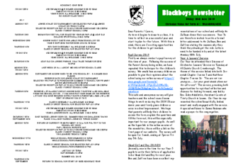 Newsletter 28th June
