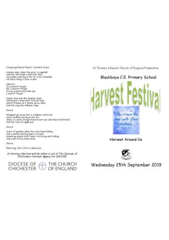 Harvest Festival September 2019