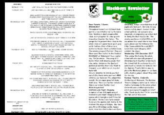 Newsletter 8th December
