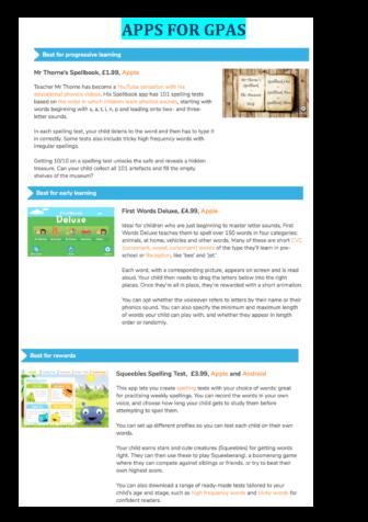 Apps for GPAS