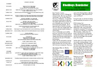 Newsletter 9th November