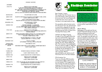 Newsletter 7th December