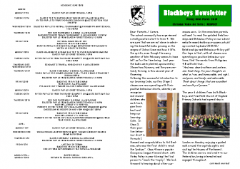 Newsletter 8th March