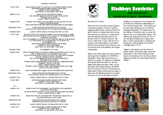 Newsletter 14th June