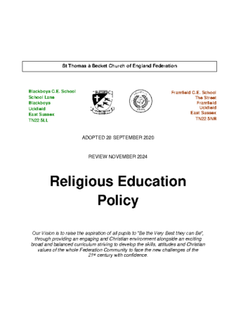 Religious Education Policy