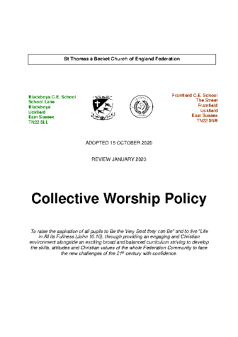 Collective Worship Policy
