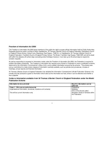 Freedom of Information Publication Scheme