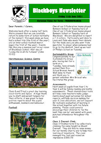 Newsletter 11th June